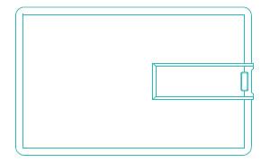 CR80 flip plastic business card