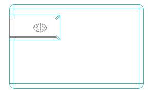 CR80 slide plastic name card