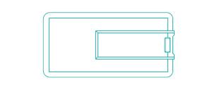 60x30mm small size flip plastic card