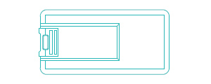 60x30mm small size flip plastic business card