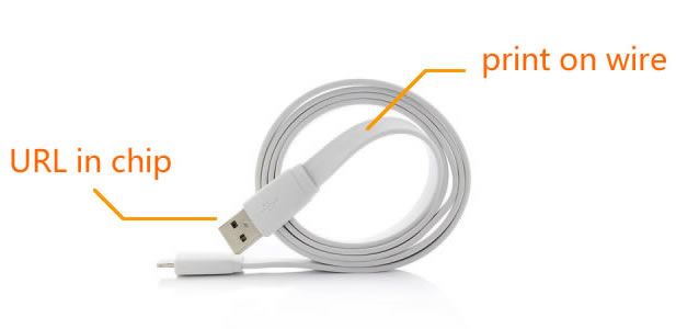 USB Webkey Cable for Android and iPhone